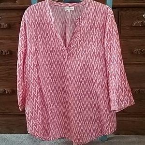 Grand& Greene~ linen/cotton top